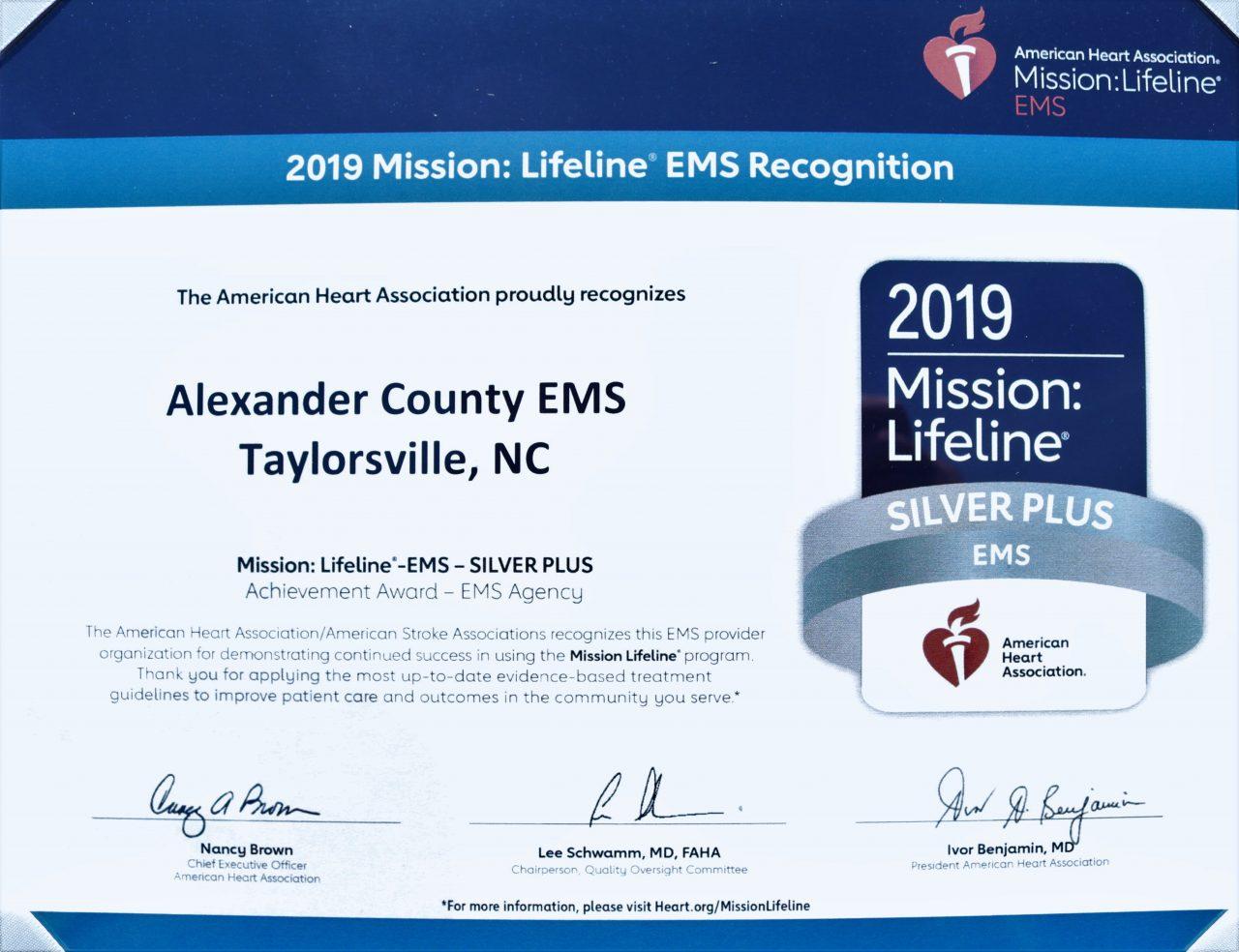 ems certificate award